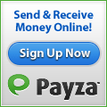 Send and receive money online with Payza